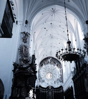 gothic, style and church
