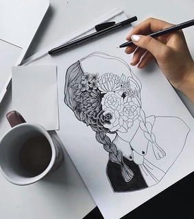 drawings, black and white