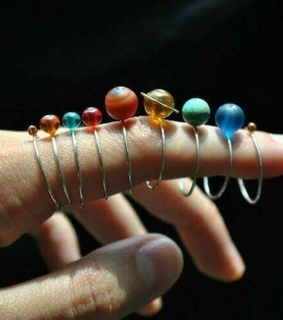planets, jewelry and aesthetic