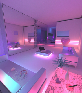 purple aesthetic, room and aesthetic