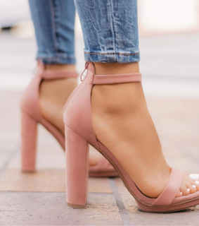 ?, pink and heels