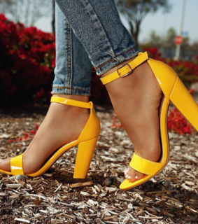 ?, yellow and sandals