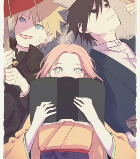 naruto, sasuke and anime