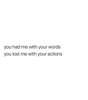 love, actions and quotes