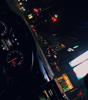 drive, car ride and late night