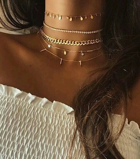 five, necklace and cute