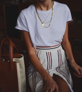 style, skirt and white