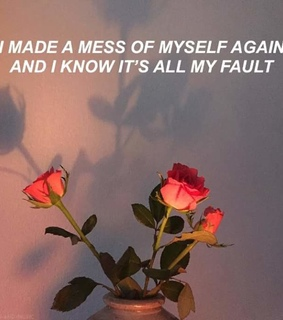 mess, quote and roses