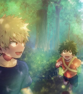 izuku midoriya, katsuki bakugou and boku no hero