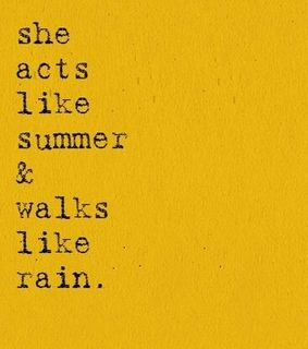 yellow, summer and rain