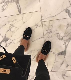 slides, mules and luxury