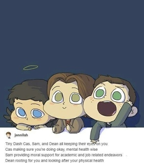 jensen, castiel and misha