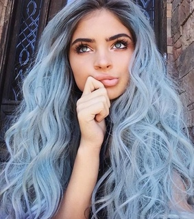 girl, aesthetic and blue