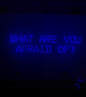 fear, afraid and neon