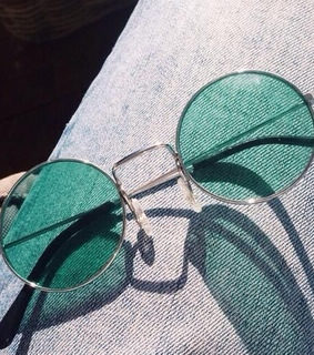 sunglasses, green and style