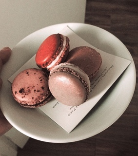 macaroons, breakfast and white