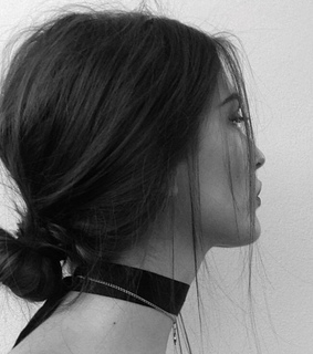 messy bun, black and white and hair