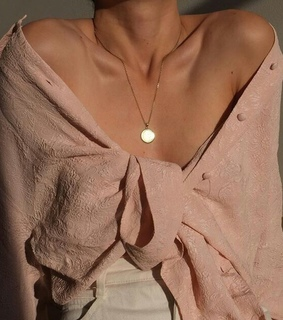 woman, necklace and style
