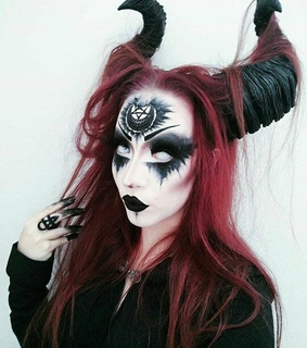goth, Halloween and makeup