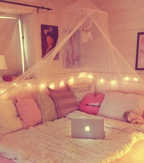 warm, bed and bedroom