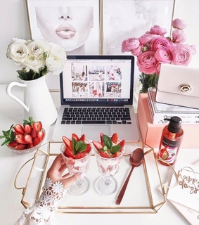 pink, beauty and food