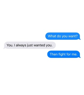texts, love and fight