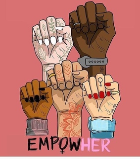 women, pink and empowher