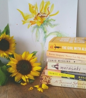 aesthetic, book and yellow