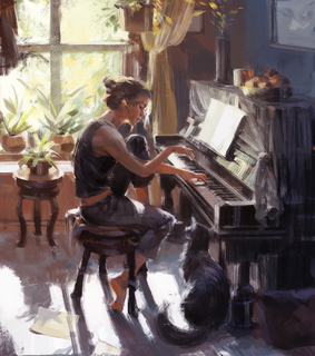 pianist, art and music
