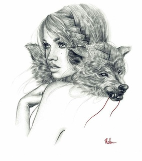little red riding hood, illustration and drawing