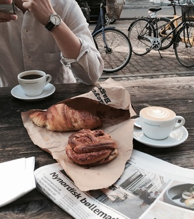 crossiant, lunch and cute
