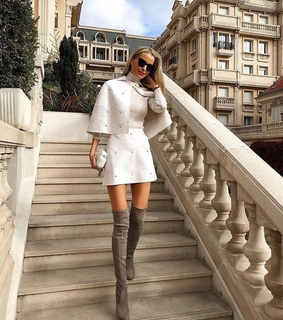 paris, over the knee boots and fashion