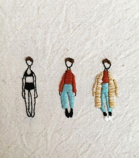 aesthetic, embroidery and creative