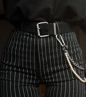 style, belt and black