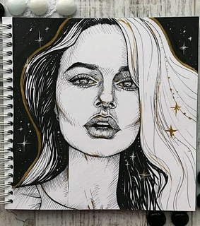 drawing, black and sketch