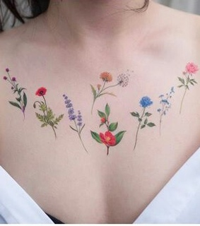 colors, tattoo and delicate