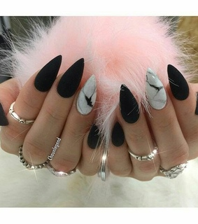 marble, pointy and black