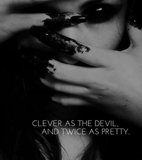 lady, Devil and dark