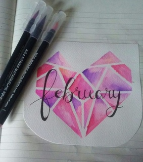 february, drawings and calligraphy