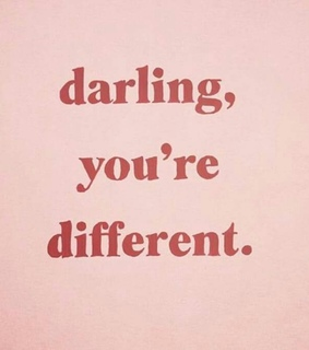 quotes, pink and different