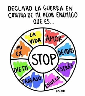 frases, stop and textos