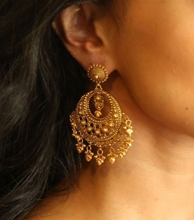 jewelry, yellow and earring