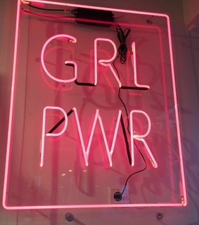 neon, grl pwr and girl power