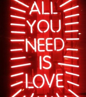 all you need is love, pic and color