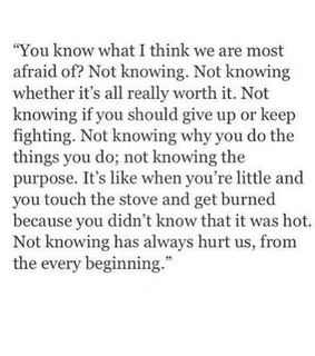 quotes, fear and the unknown