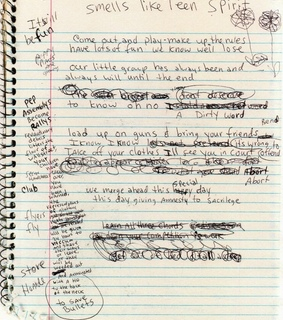 kurt cobain, alternative and notebook