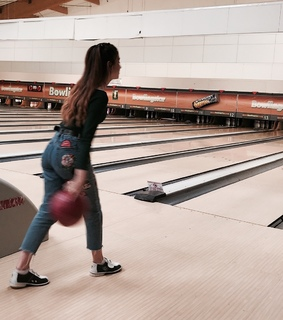 bowling, girl and aesthetic