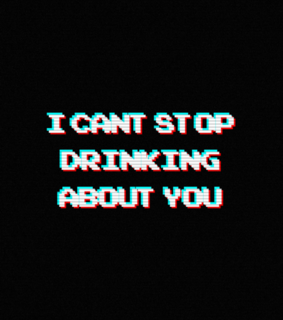 you, drinking and black