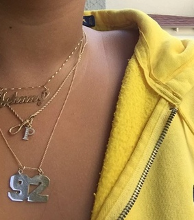 Polo, yellow and necklaces