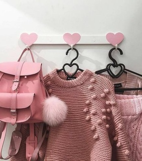 fluffy, pink and bag